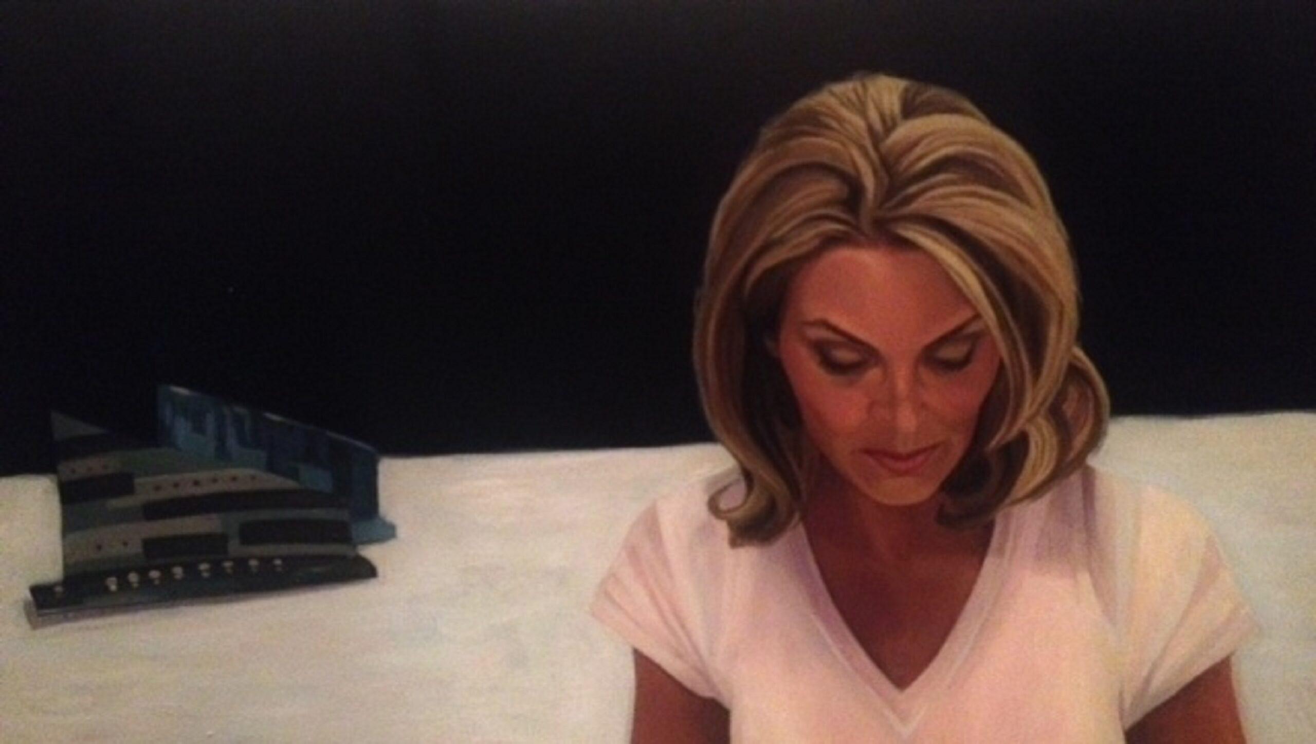 Portrait of Jacki Cohen, 38x18, Oil on Canvas by Carla Keaton Fine Arts in Tempe, Arizona
