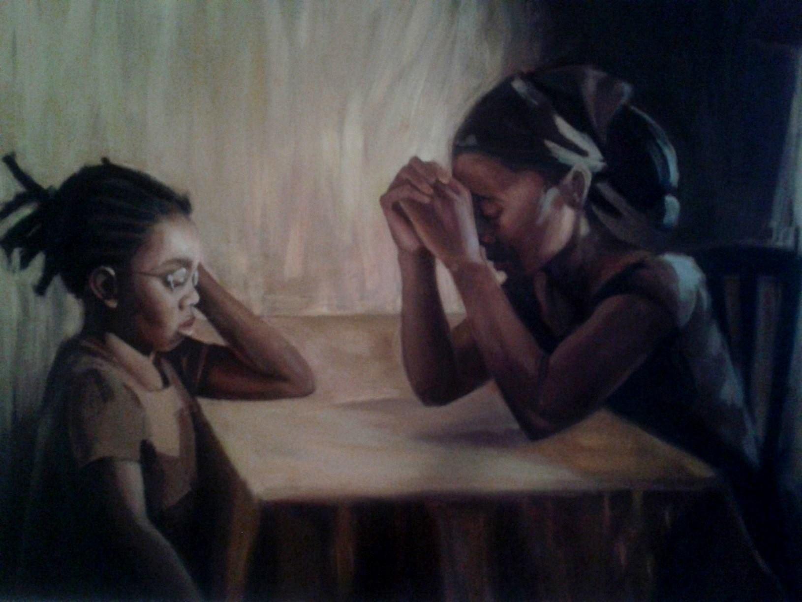 The Dinner Table Oil on Canvas 24x36